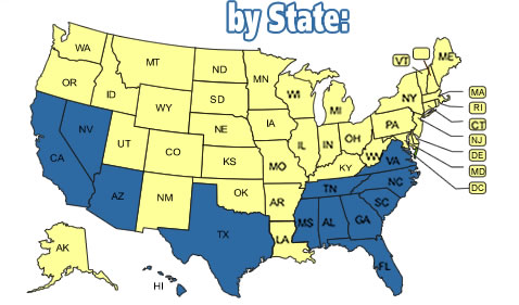 State Map of Pet Friendly Rentals